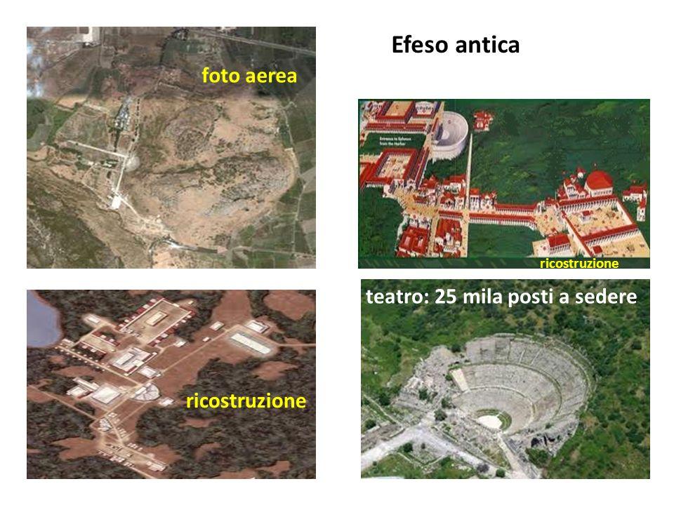 Efeso antica foto aerea ricostruzione Il teatro: 25 mila posti a sedere