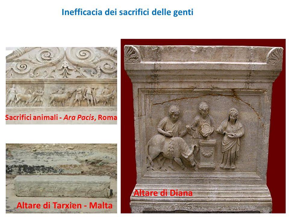 Altare di Tarxien - Malta Inefficacia dei sacrifici delle genti Altare di Diana Sacrifici animali - Ara Pacis, Roma