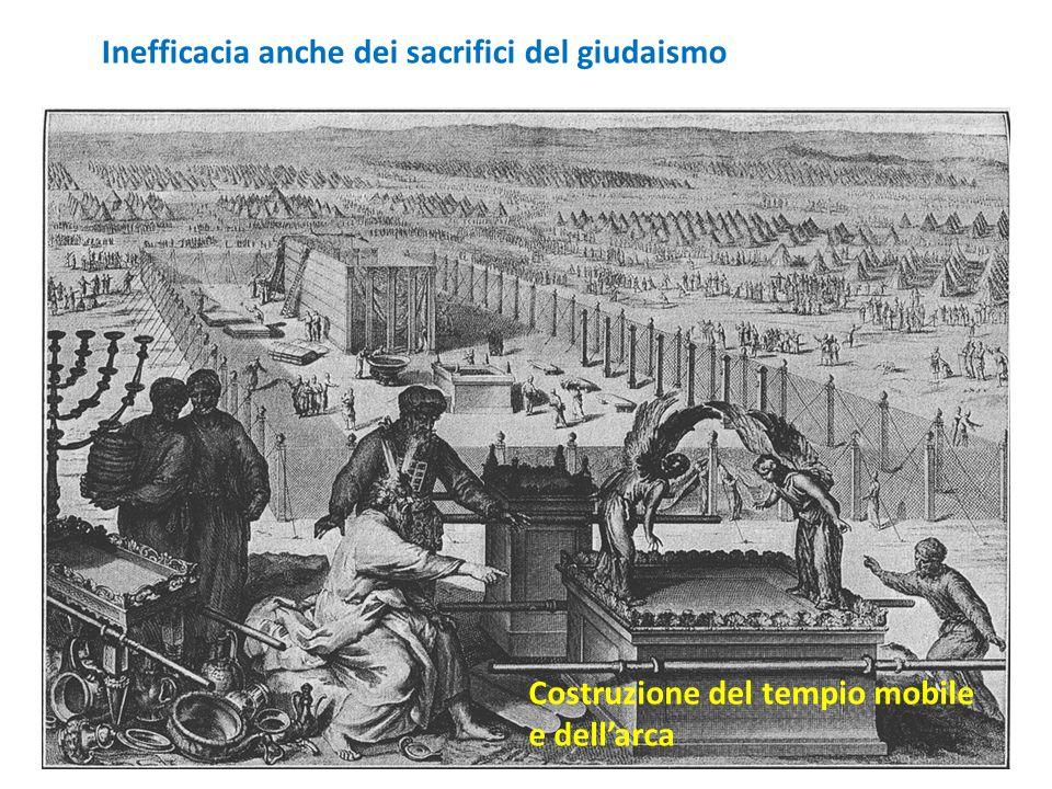 Costruzione del tempio mobile e dellarca Inefficacia anche dei sacrifici del giudaismo