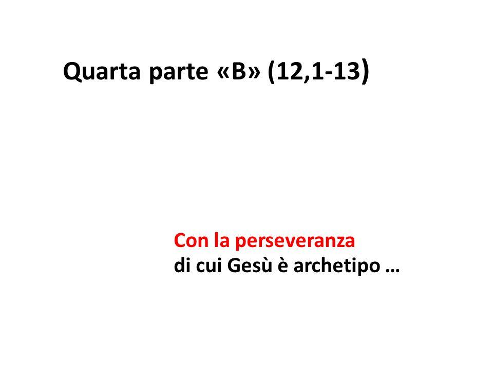 Quarta parte «B» (12,1-13 ) Con la perseveranza di cui Gesù è archetipo …