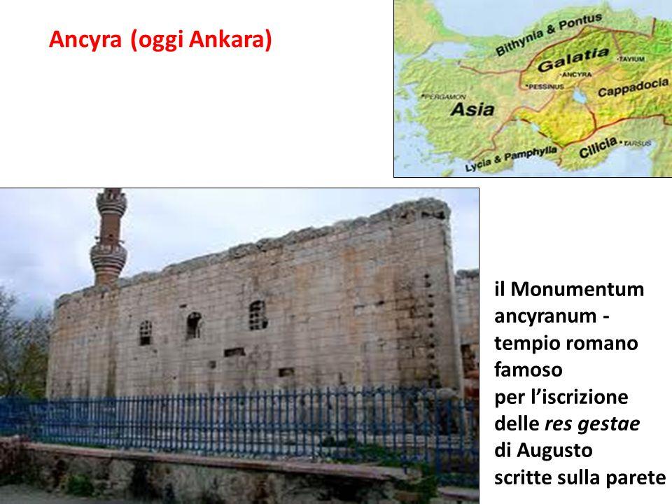 Ancyra (oggi Ankara) il Monumentum ancyranum - tempio romano famoso per liscrizione delle res gestae di Augusto scritte sulla parete