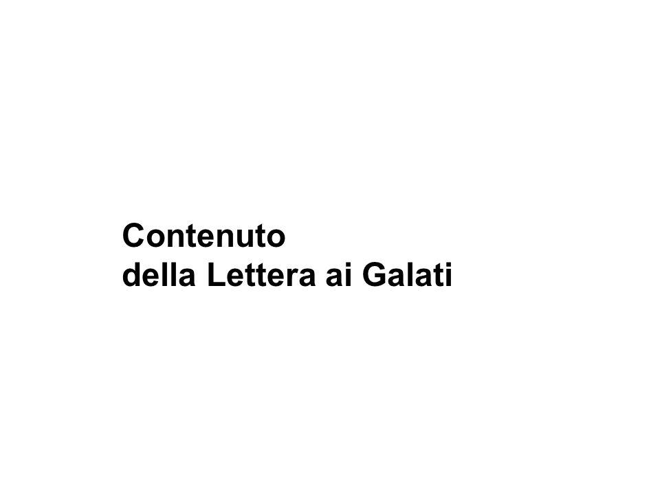 Contenuto della Lettera ai Galati