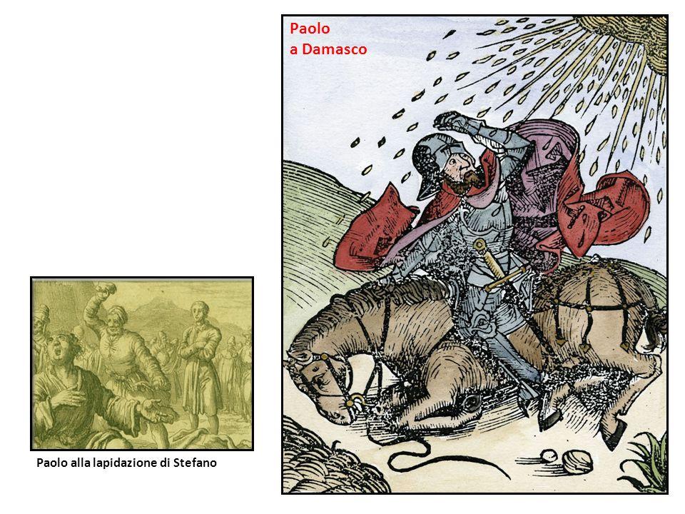 Paolo alla lapidazione di Stefano Paolo a Damasco