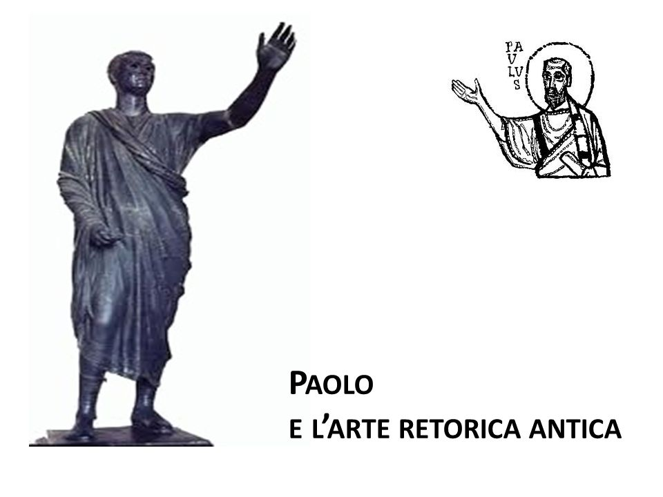 P AOLO E L ARTE RETORICA ANTICA