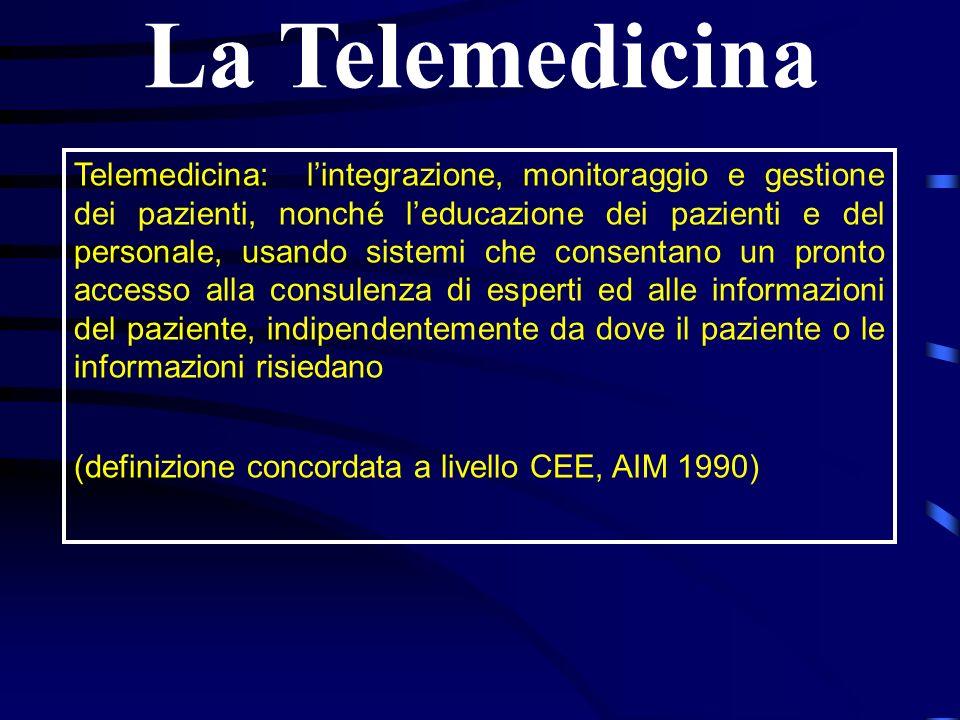 Telemedicina: lintegrazione, monitoraggio e gestione dei pazienti, nonché leducazione dei pazienti e del personale, usando sistemi che consentano un p