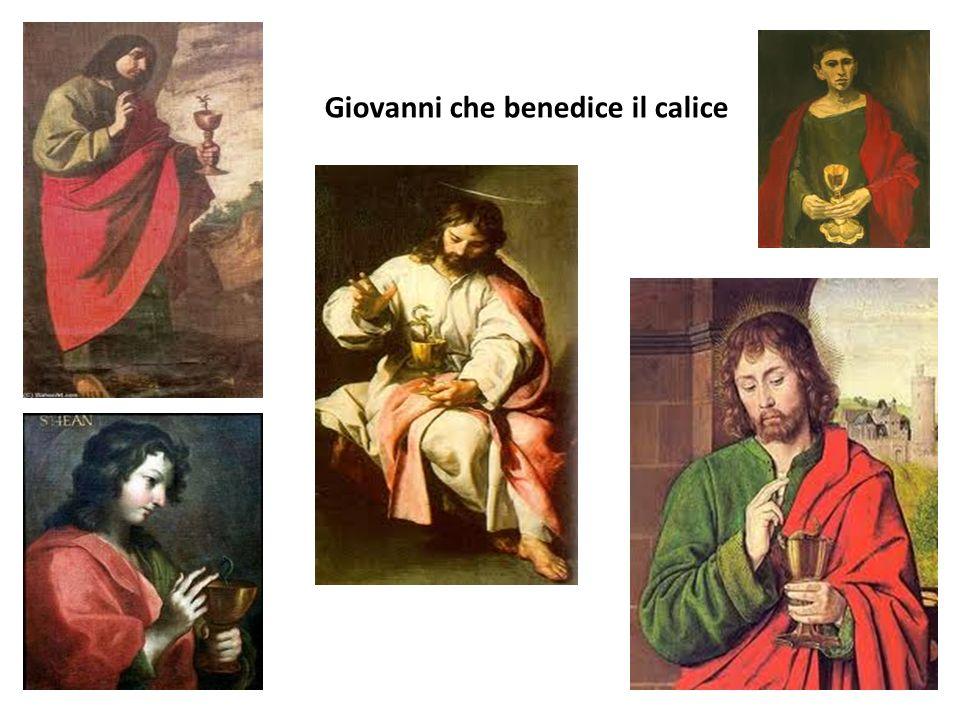 Giovanni che benedice il calice