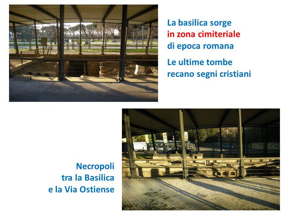 La basilica sorge in zona cimiteriale di epoca romana Le ultime tombe recano segni cristiani Necropoli tra la Basilica e la Via Ostiense