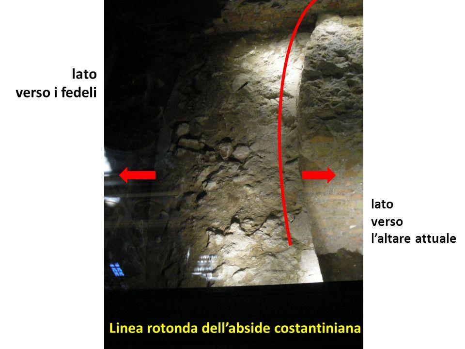 Linea rotonda dellabside costantiniana lato verso i fedeli lato verso laltare attuale