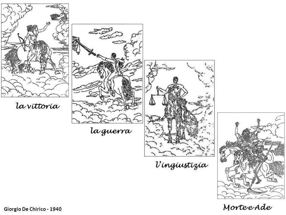 Giorgio De Chirico - 1940 la vittoria Morte e Ade la guerra lingiustizia