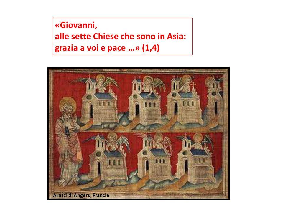 «Giovanni, alle sette Chiese che sono in Asia: grazia a voi e pace …» (1,4) Arazzi di Angers, Francia