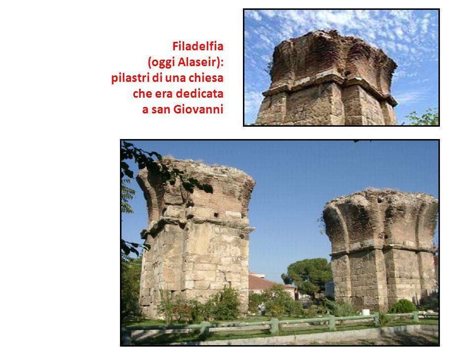 Filadelfia (oggi Alaseir): pilastri di una chiesa che era dedicata a san Giovanni