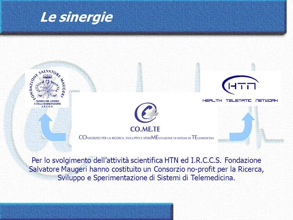 Per lo svolgimento dellattività scientifica HTN ed I.R.C.C.S. Fondazione Salvatore Maugeri hanno costituito un Consorzio no-profit per la Ricerca, Svi