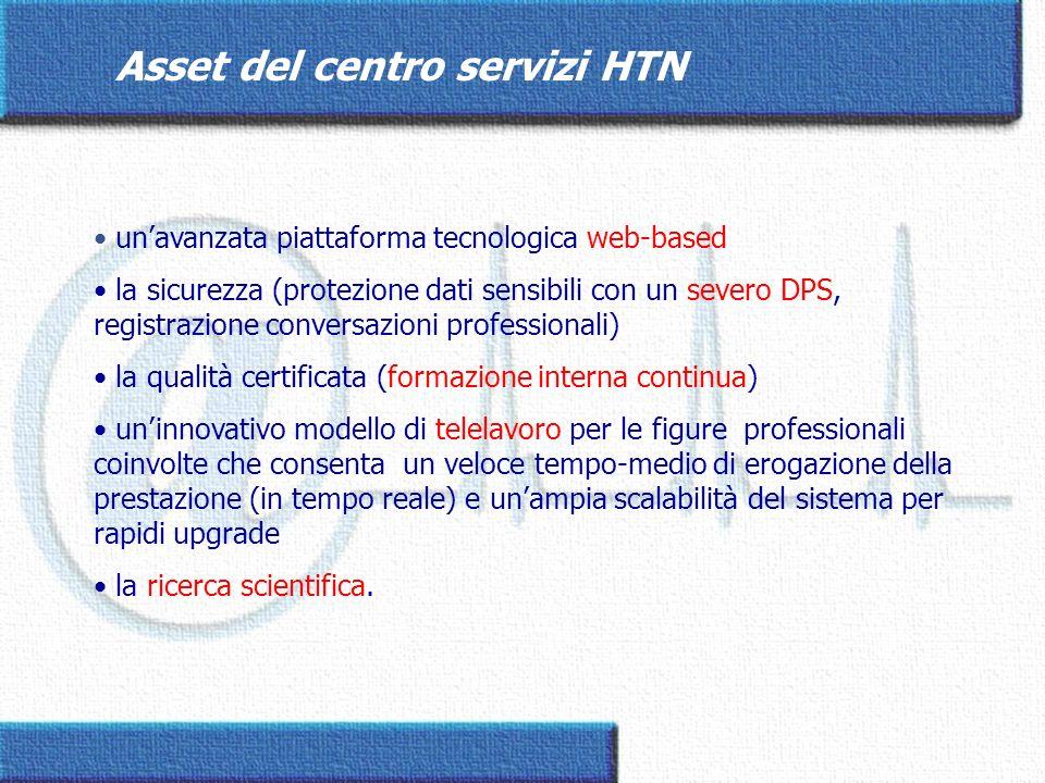 unavanzata piattaforma tecnologica web-based la sicurezza (protezione dati sensibili con un severo DPS, registrazione conversazioni professionali) la