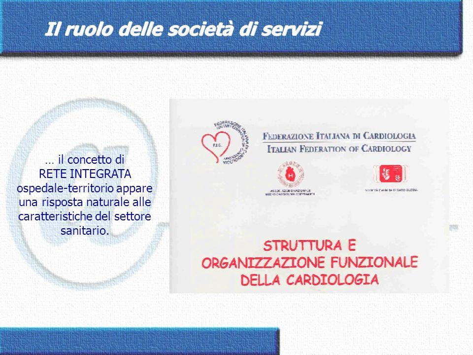 Il ruolo delle società di servizi … il concetto di RETE INTEGRATA ospedale-territorio appare una risposta naturale alle caratteristiche del settore sa