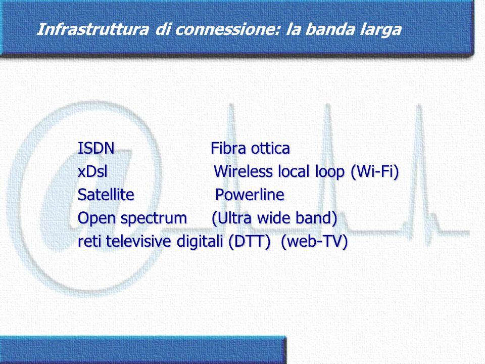Il centro servizi ed il network di comunicazione Linfrastruttura di connessioneLinfrastruttura di connessione Linfrastruttura di accesso ai serviziLinfrastruttura di accesso ai servizi Linfrastruttura di sviluppo e gestione dei serviziLinfrastruttura di sviluppo e gestione dei servizi