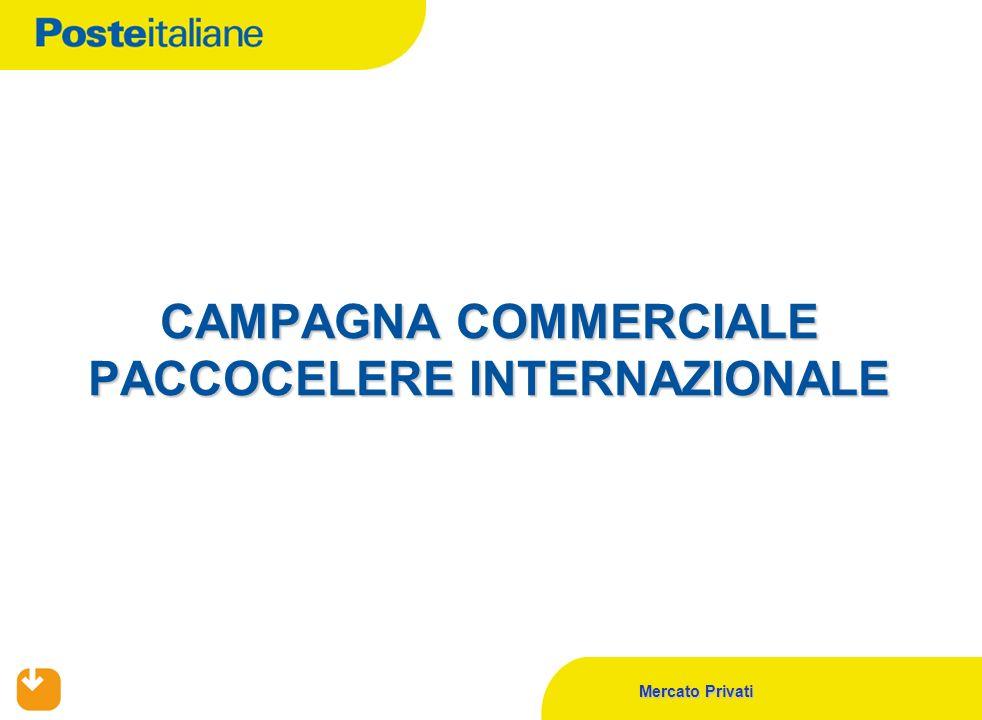 Mercato Privati CAMPAGNA COMMERCIALE PACCOCELERE INTERNAZIONALE