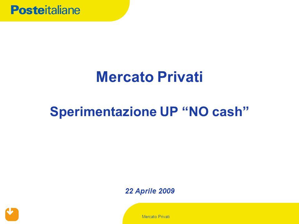 Mercato Privati 22 Aprile 2009 Mercato Privati Sperimentazione UP NO cash