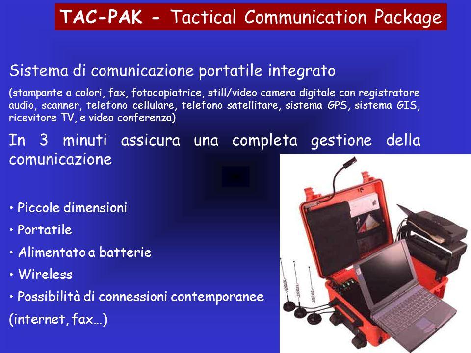 Sistema di comunicazione portatile integrato (stampante a colori, fax, fotocopiatrice, still/video camera digitale con registratore audio, scanner, te