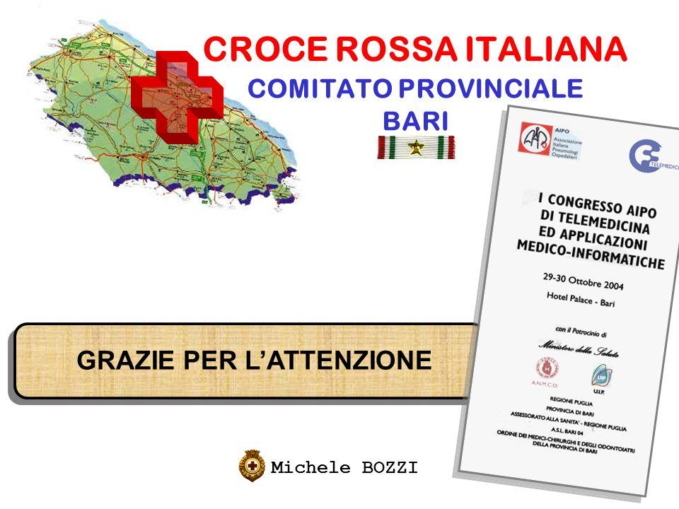 CROCE ROSSA ITALIANA COMITATO PROVINCIALE BARI Michele BOZZI GRAZIE PER LATTENZIONE