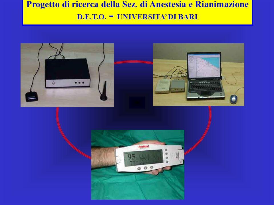 Progetto di ricerca della Sez. di Anestesia e Rianimazione D.E.T.O. - UNIVERSITA DI BARI TERMINALE IN AMBULANZA TERMINALE IN C.O. SATURIMETRO IN AMBUL