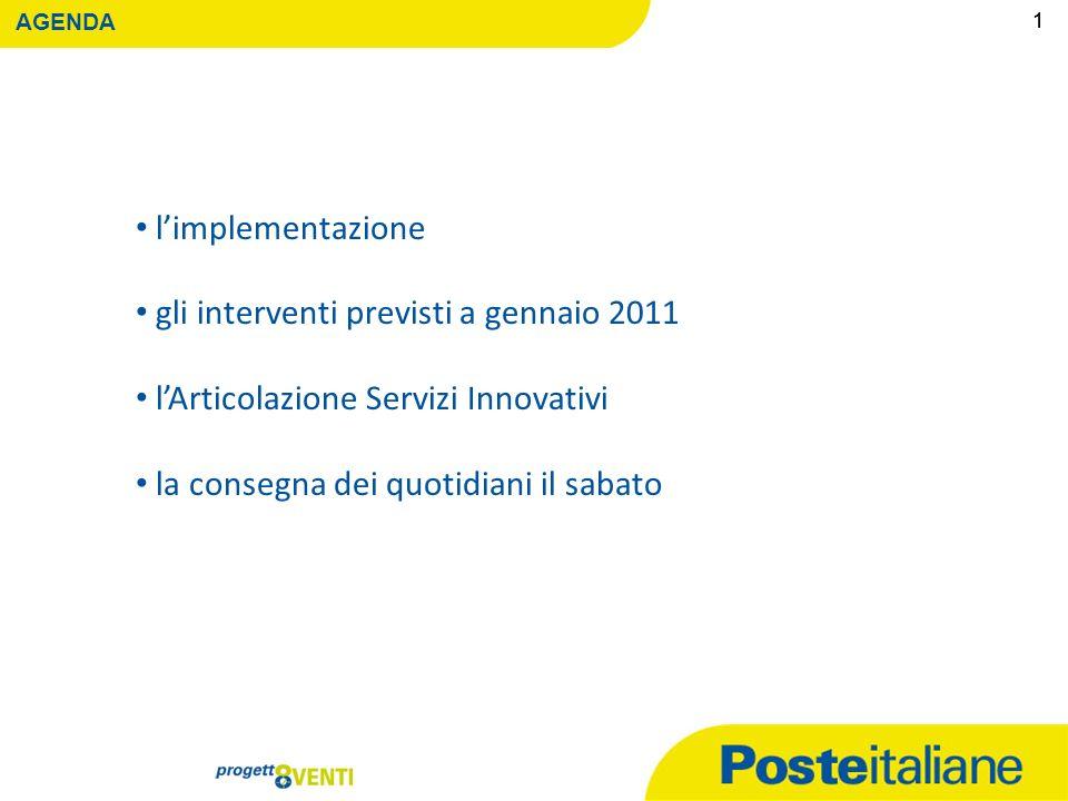 Servizi Postali Roma, 20 Dicembre 2010 Comitato di Monitoraggio 2° incontro