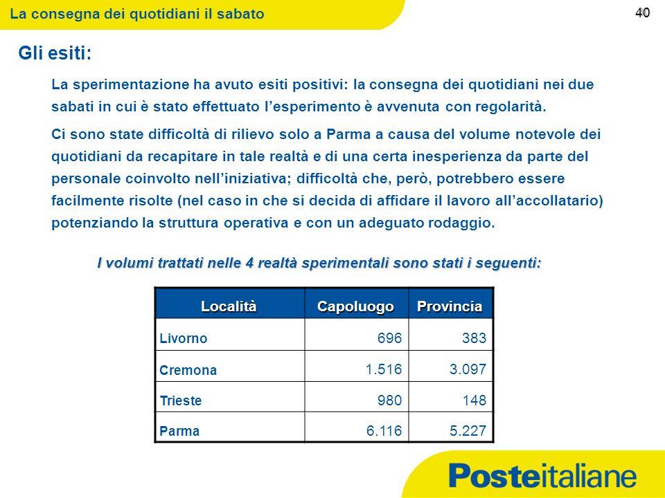 09/02/2014 Le modalità con cui effettuare il servizio E intenzione di Poste Italiane di garantire questo servizio nella giornata del sabato ricorrendo