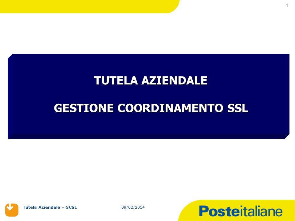 09/02/2014 Tutela Aziendale - GCSL 09/02/2014 1 TUTELA AZIENDALE GESTIONE COORDINAMENTO SSL