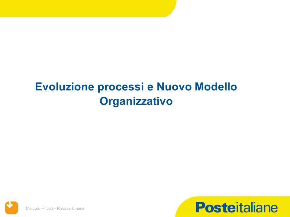 09/02/2014 Mercato Privati – Risorse Umane Evoluzione processi e Nuovo Modello Organizzativo