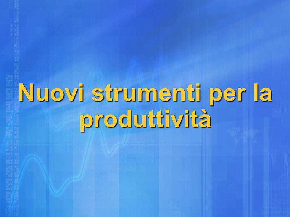 Nuovi strumenti per la produttività
