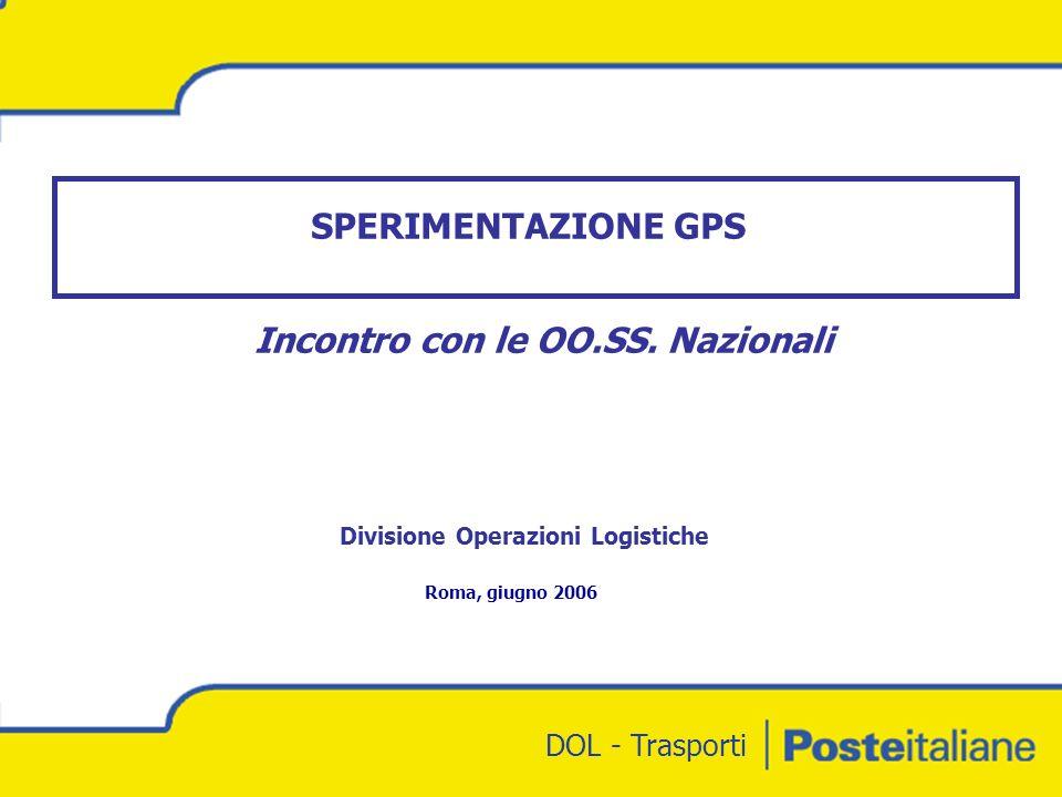 DOL - Trasporti SPERIMENTAZIONE GPS Roma, giugno 2006 Incontro con le OO.SS.