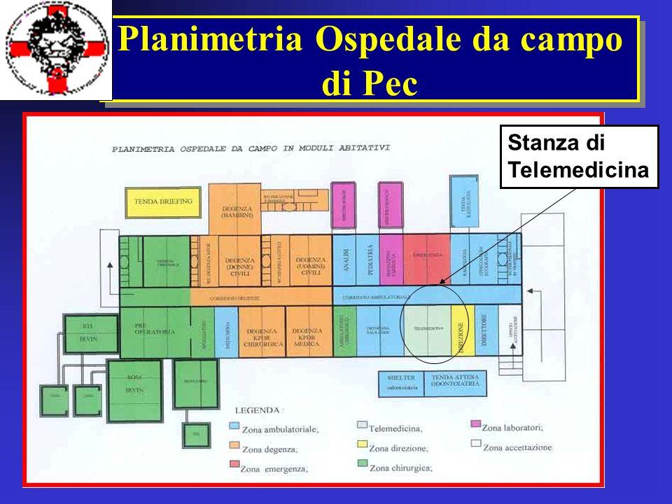 Planimetria Ospedale da campo di Pec Stanza di Telemedicina