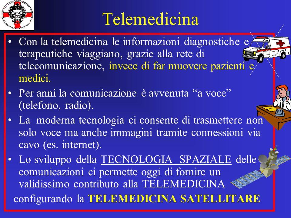 Con la telemedicina le informazioni diagnostiche e terapeutiche viaggiano, grazie alla rete di telecomunicazione, invece di far muovere pazienti e med