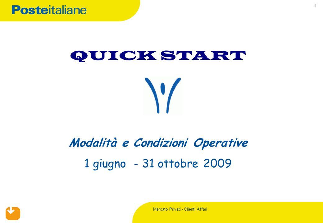 Mercato Privati - Clienti Affari 1 QUICK START Modalità e Condizioni Operative 1 giugno - 31 ottobre 2009