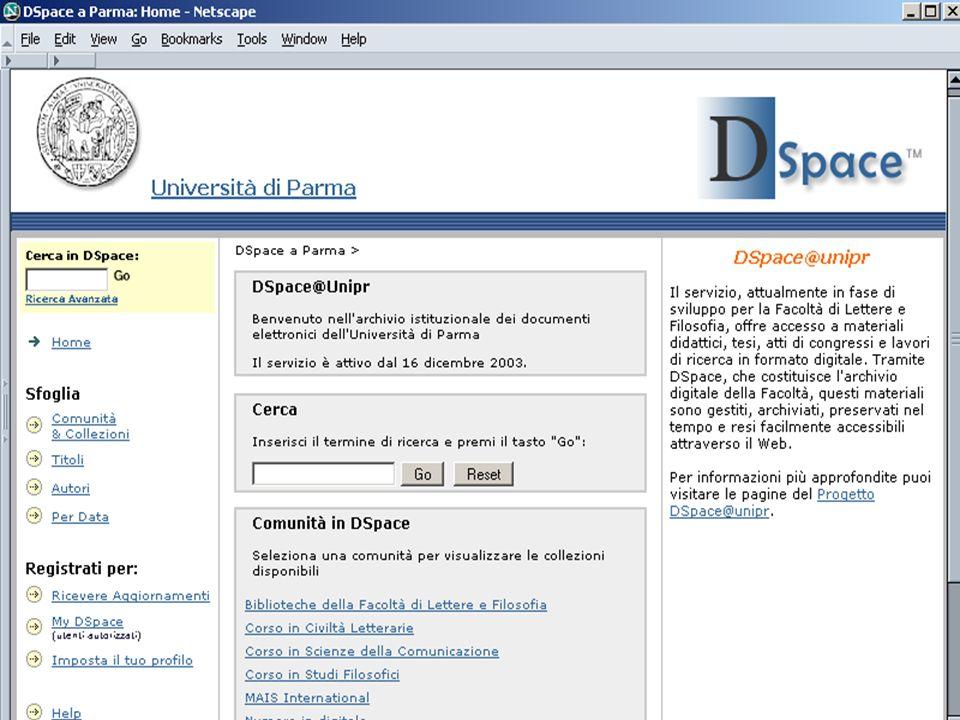 Progetto pilota Aspetti tecnici Testare diversi formati e tipologie di contenuti Definire i metadati descrittivi Aspetti relativi agli utenti Professori Studenti