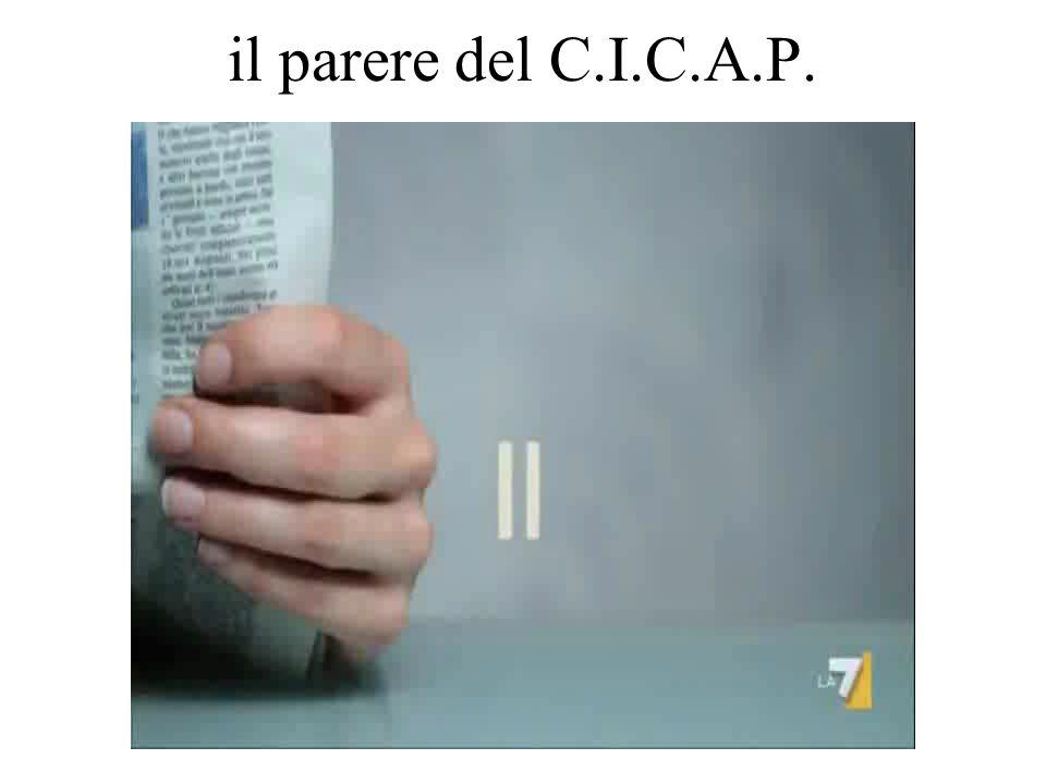 il parere del C.I.C.A.P.