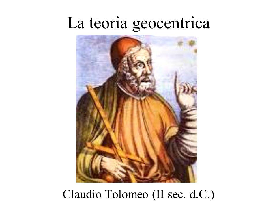 La teoria geocentrica Claudio Tolomeo (II sec. d.C.)