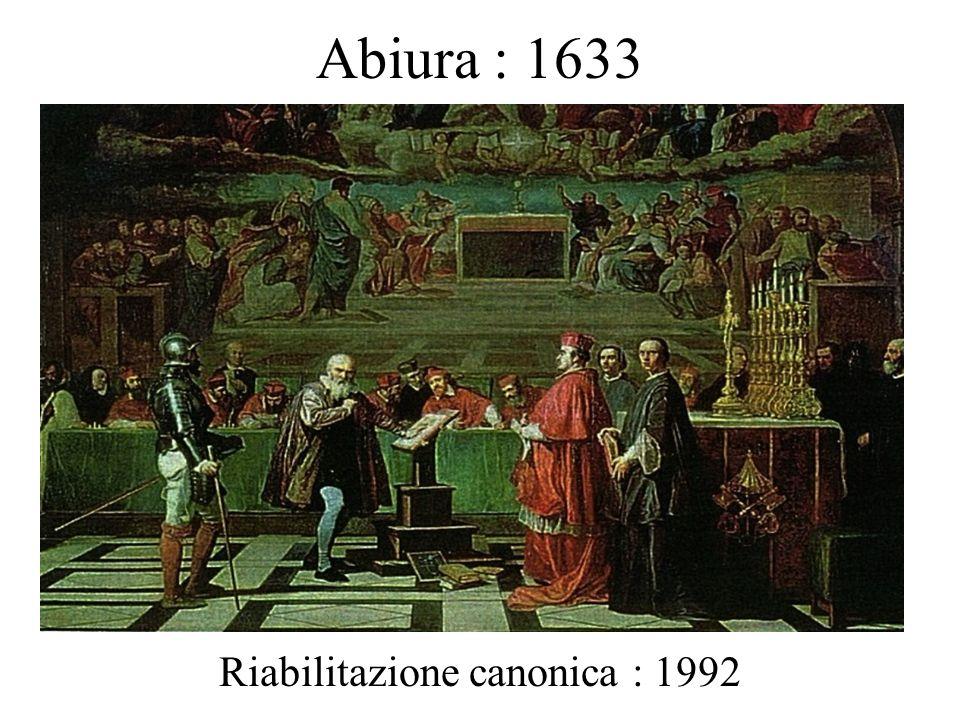 Abiura : 1633 Riabilitazione canonica : 1992