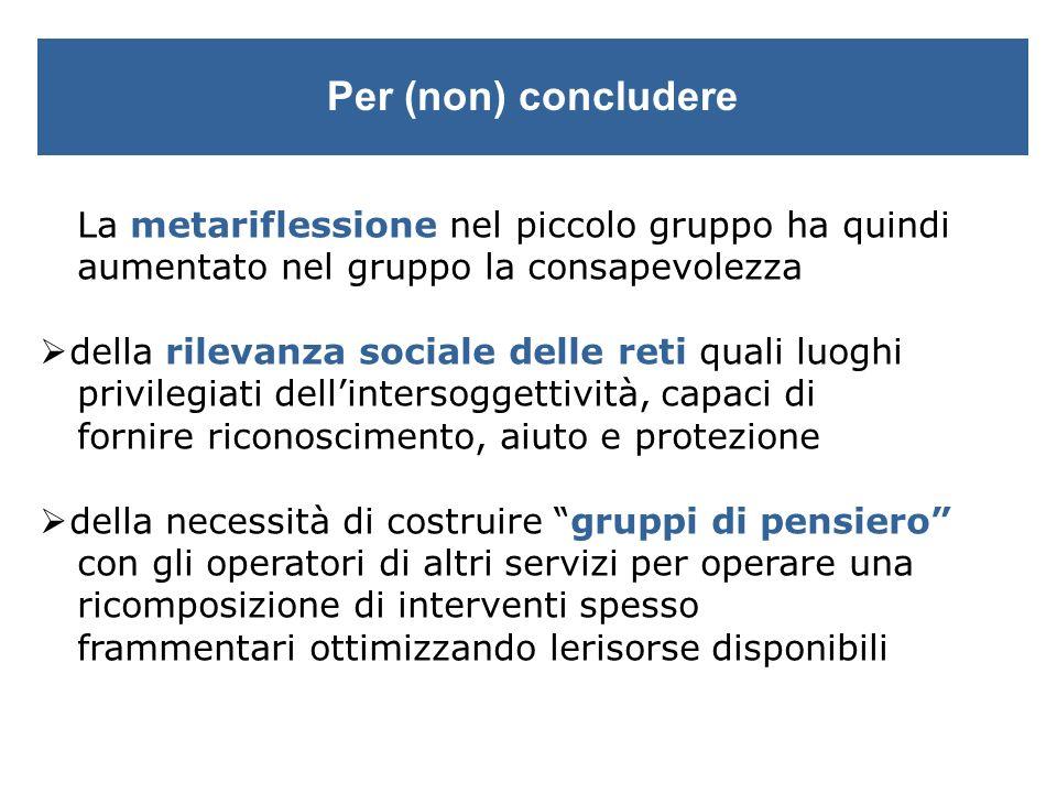 Un secondo contratto a più mani (Hay, 2000) gruppo di pensiero risorse localifamiglie contesto