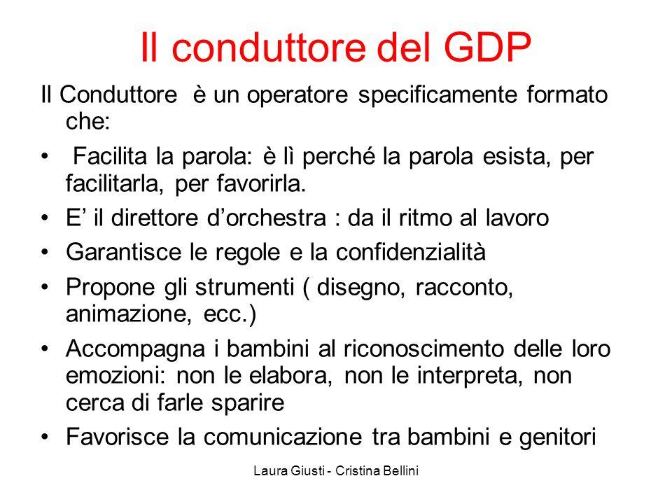Il conduttore del GDP Il Conduttore è un operatore specificamente formato che: Facilita la parola: è lì perché la parola esista, per facilitarla, per
