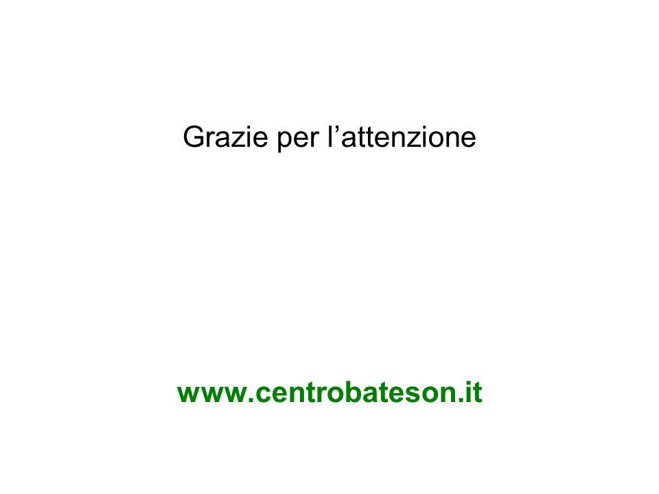 Grazie per lattenzione www.centrobateson.it