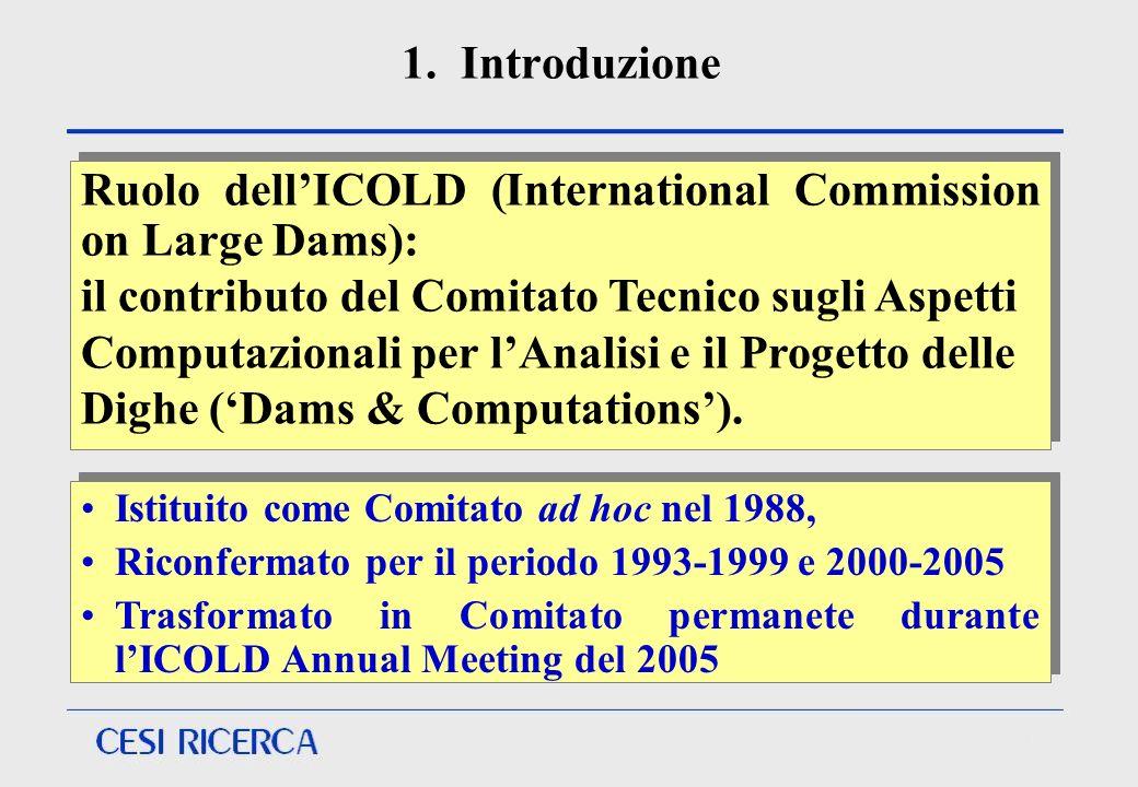 1. Introduzione Istituito come Comitato ad hoc nel 1988, Riconfermato per il periodo 1993-1999 e 2000-2005 Trasformato in Comitato permanete durante l