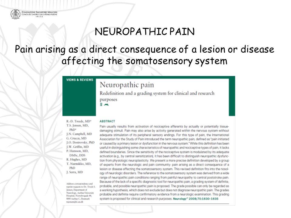In tutti i dolori nocicettivi con allodinia meccanica dinamica questa è localizzata nel territorio del dolore.
