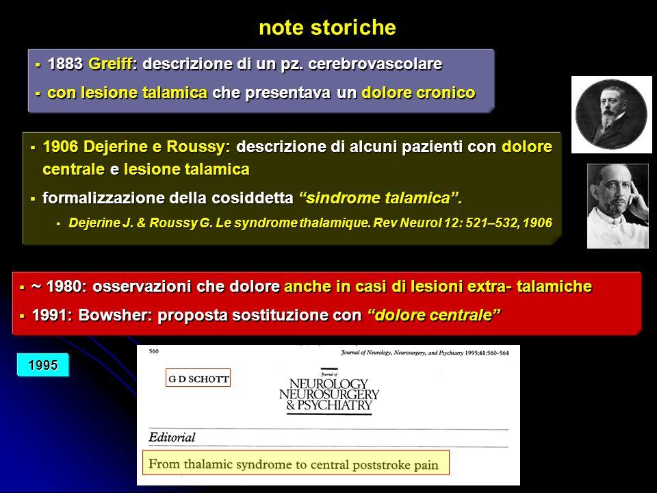studio multicentrico dolore post-stroke Centri coinvolti: 1.