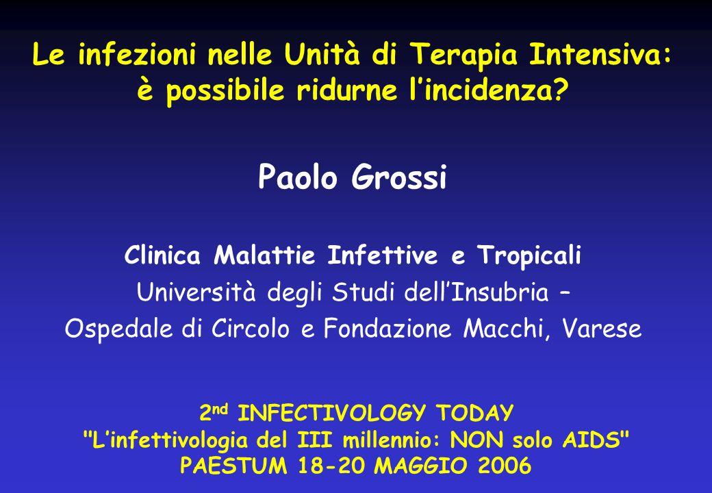 Studio INF-NOS 2002-04 Multicentrica Prevalenza di IN totale e per area Studi di prevalenza % prevalenza