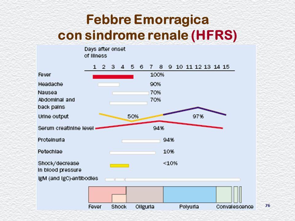 76 Febbre Emorragica con sindrome renale (HFRS)