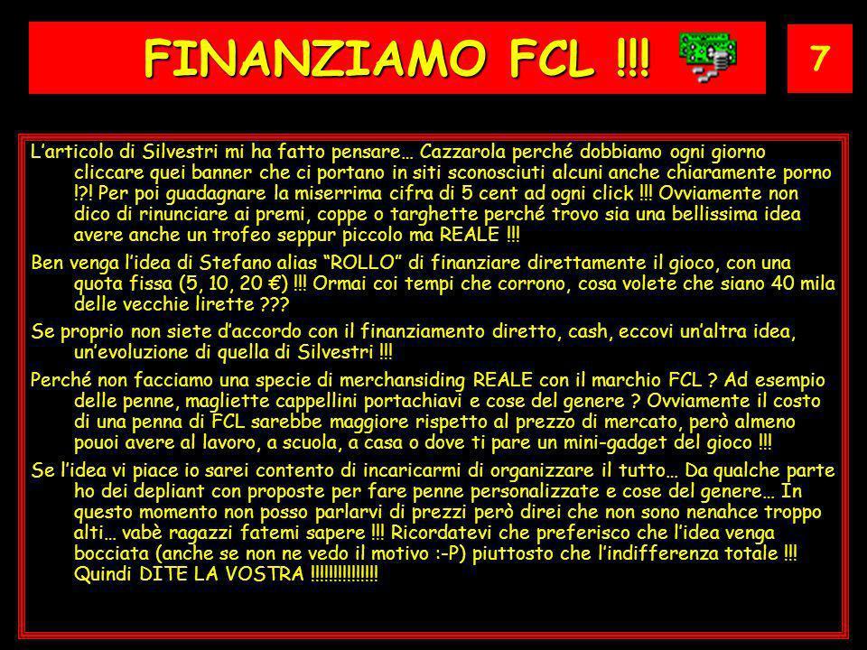 7 FINANZIAMO FCL !!.
