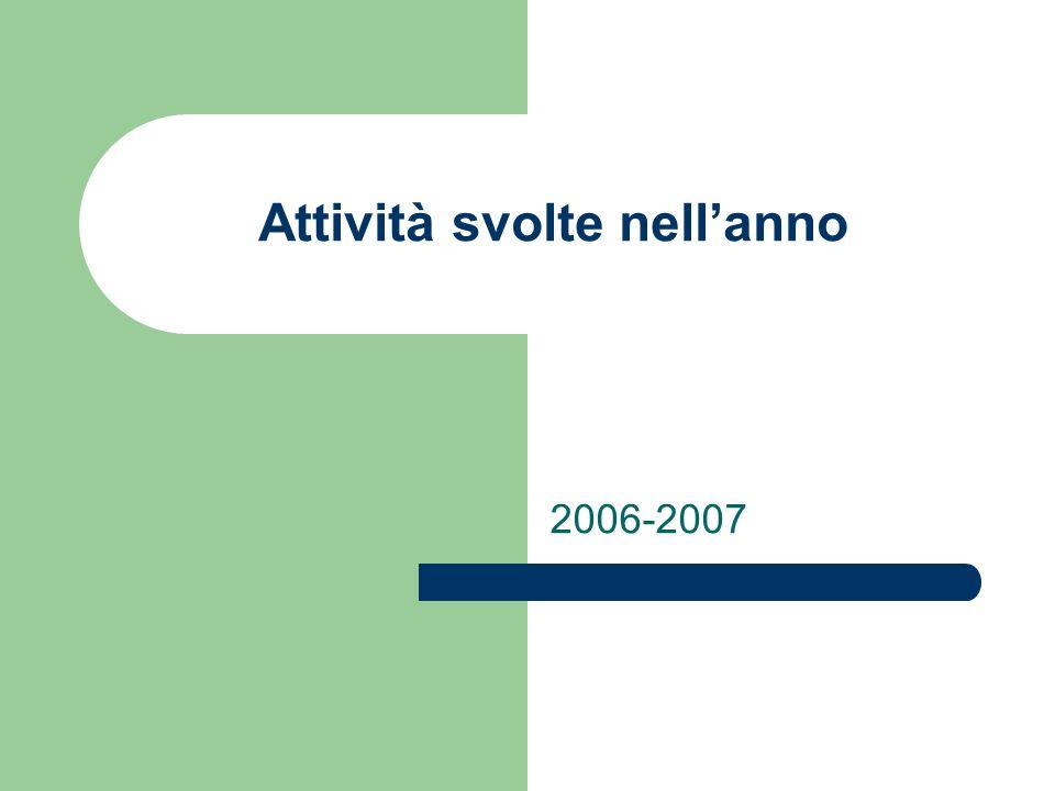 Attività svolte nellanno 2006-2007