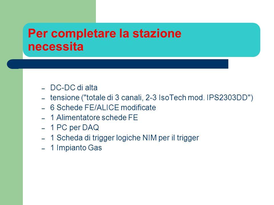 Per completare la stazione necessita – DC-DC di alta – tensione ( totale di 3 canali, 2-3 IsoTech mod.