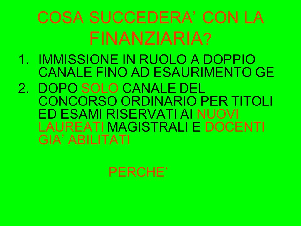 NUOVA FORMAZIONE INSEGNANTI ( Legge 53/2003 art.