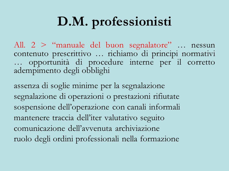 D.M. professionisti All.